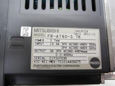 Mitsubishi Freqrol-A700 FR-A740-3.7K Frequenzumrichter 3,7kW 400V Top Zustand – Bild 2