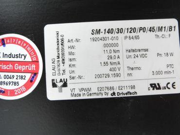 Elau Servomotor SM-140/30/120/P0/45/M1/B1 3000 min-1 Top Zustand TESTED – Bild 4