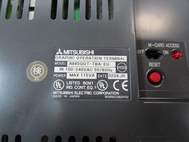 Mitsubishi GRAPHIC OPERATION TERMINAL A985GOT-TBA-EU + A9GT-QBUSS TESTED – Bild 4