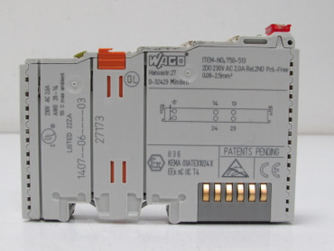 Wago 750-513  Digitalausgangsklemme Relay 2 Channel Output Module – Bild 2