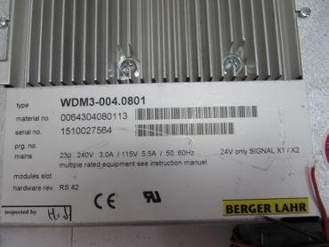Berger Lahr Positec WDM 3-004 WDM3-004.0801 64304080113  230V 3A TESTED – Bild 3