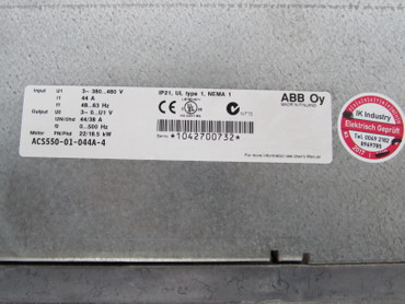 ABB ACS550-01-044A-4 22/18kW 44/38A 400V Top Zustand TESTED – Bild 3