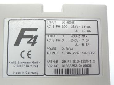 KEB F4 09.F4.S1D-1220/1.2 230V 2,8KVA 1,5kW 6,8A TOP Zustand TESTED – Bild 5