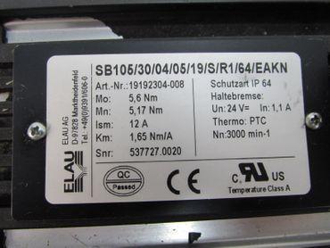Elau Servomotor SB105/30/04/05/19/S/R1/64/EAKN ID-No: 19192304-008 Top Zustand – Bild 4