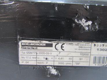 Kollmorgen Servomotor 6SM77S-3000-09-V 6SM 77S-3000-09-V 9.9A 4.41kW 3000U/min – Bild 4