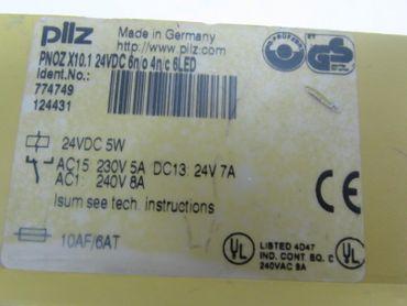 PILZ PNOZ X10.1 24VDC 6n/o 4n/c  ID No.:774749 5W Top Zustand – Bild 3