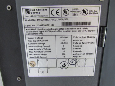 Eurotherm Drives 590 Digital Series 590C/0350/6/0/0/1/0/00/000 Top Zustand – Bild 5