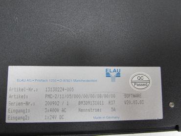 Elau Servo Drive PMC-2 PMC-2/11/05/000/00/00/08/00/00 Softw.:V20.03.03 3x400V 5A – Bild 3