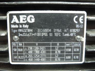 AEG Asynchronmotor AM63ZBA4 1,2A 1330 min1 neuwertig – Bild 4