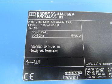 ENDRESS + HAUSER Promass 83 83I25-AFLAAAACAAAJ Durchflussmesser 83I25 Top  – Bild 4