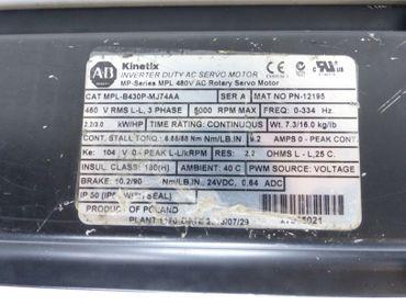 Allen Bradley MPL-B430P-MJ74AA Servomotor P/N: 12195 Top Zustand – Bild 4