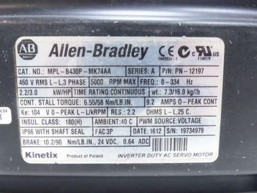 Allen Bradley MPL-B430P-MK74AA Servomotor P/N: 12197 Neuwertig – Bild 4
