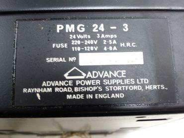Advance PMG 24-3 Power Supply 24V DC 3A TESTED TOP ZUSTAND – Bild 3