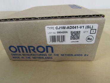 Omron  A/D UNIT CJ1W-AD041_V1 (SL)  4 Points  1-5V/4-20mA  unused OVP – Bild 1