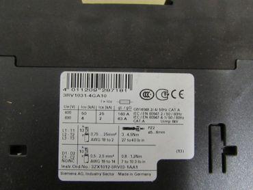 Siemens 3RV1031-4GA10  Leistungsschalter  45A   Neu OVP – Bild 2