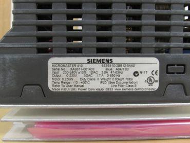 SiemensMicromaster 410  6SE6410-2BB12-5AA00,25kw 230V + MM410  Operator Panel – Bild 2