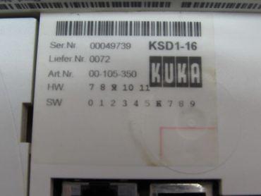 KUKA KSD1-16 00-105-350 Servo Drive Top Zustand – Bild 2