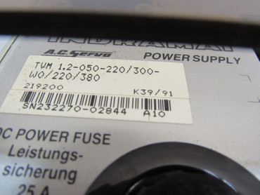 INDRAMAT AC Servo Power Supply TVM 1.2-050-220/300-W0/220/380V – Bild 3