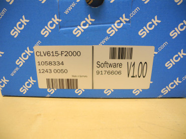 Sick	Sensor CLV615-F2000 Software V1.00 Bar Code Scanner Neu OVP – Bild 2