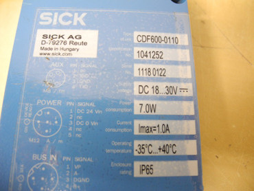 Sick	Sensor CDF600-0110 Connection Device Fieldbus Profibus – Bild 2
