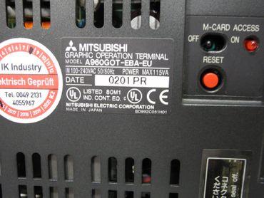 Mitsubishi Graphic Operation Terminal A960GOT-EBA-EU + A9GT-QFNB4M Neuwertig – Bild 3