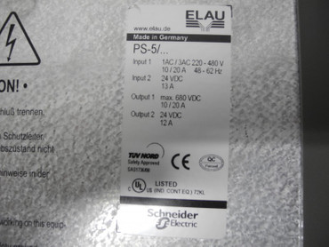 Elau PacDrive PS-5 Power Supply iSH HW:845702 SW:00.24.21 13A 480V neuwertig – Bild 2