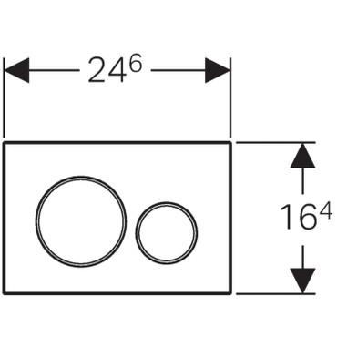 Geberit Sigma 20 Betätigungsplatte | glanzchrom/mattchrom | 115.882.KH.1 – Bild 7