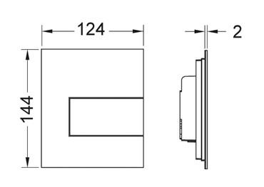 TECE Square Urinal-Betätigungsplatte aus Metall – Bild 2