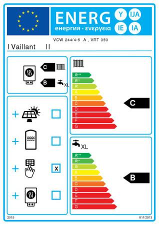 Vaillant atmoTEC plus VCW 224/4-5 24 kW Gas-Heizwert-Kombigerät im Paket 0020219697, calorMATIC 350, Anschlusszubehör, Erdgas E – Bild 5