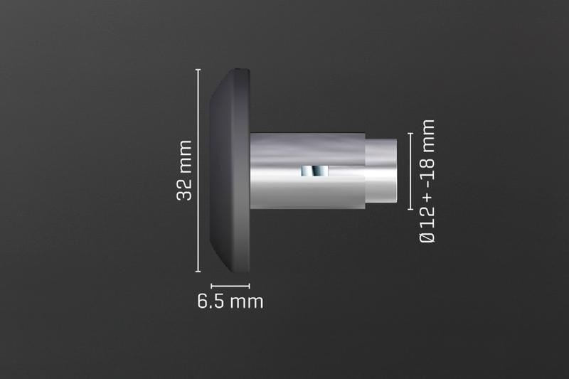 Lenkerende shortCap für alle Lenker mit Innen-Durchmesser 12mm und 18mm, silber, Paar – Bild 2