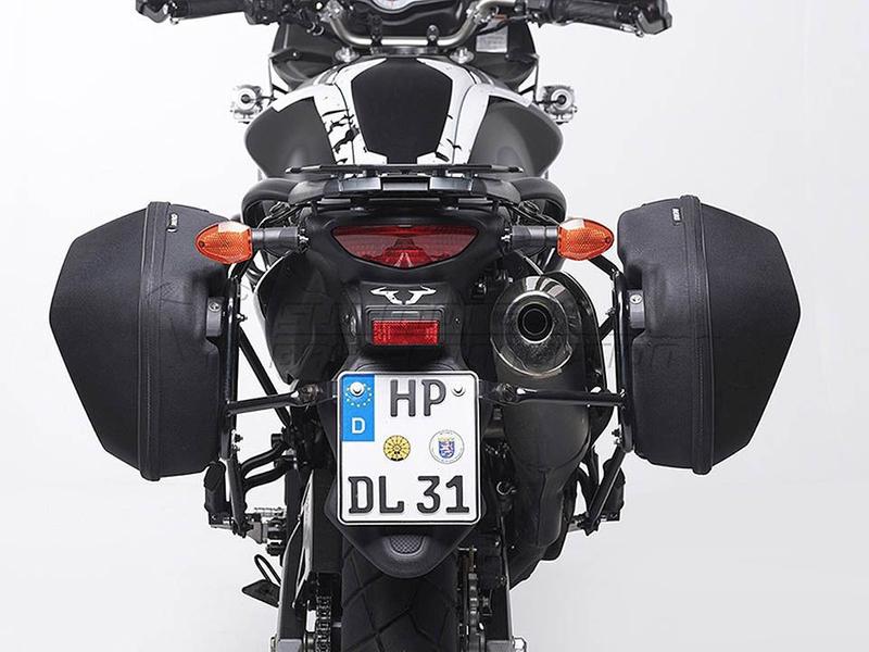 AERO ABS-Seitenkofferset. ABS/600D HCF Polyester. Schwarz. 2x 25l. Als Paar. – Bild 3