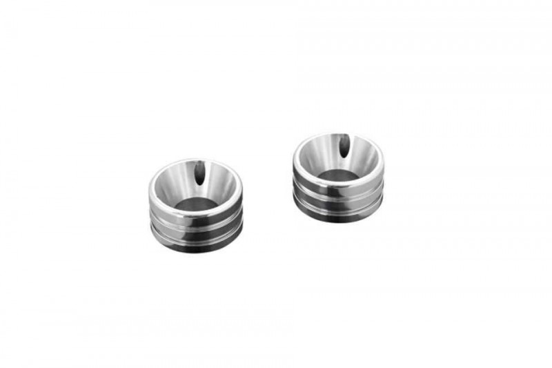 END CAP SET GROOVED, POLISHED (2Pcs