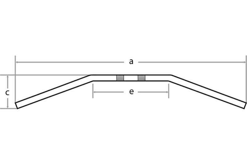 Drag Bar Large, 1 Zoll, B:92cm,4 Loch
