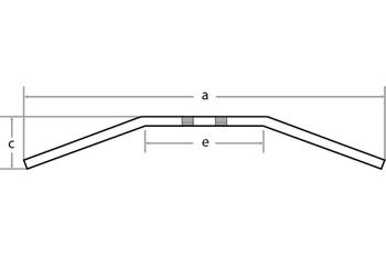 FEHLING Drag Bar Large, 7/8 Zoll, 92cm 001