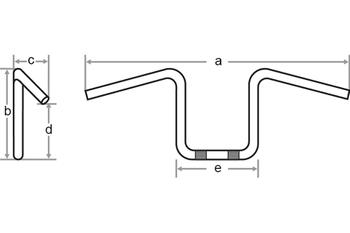 Flyer-Bar Large 1 Zoll, B:101 cm, Kerbe 001