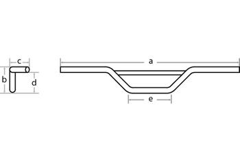 FEHLING - Moto Cross 7/8 Zoll, 89 cm, chrom, m. 001