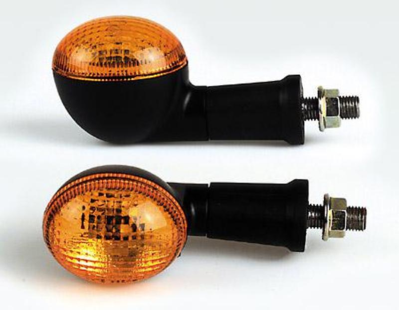Mini-Blinker, oval, schwarz