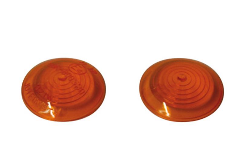 Blinkergläser für BULLS-Eye-Blinker, gelb, Paar, vorderes Glas E-geprüft
