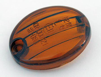 Blinkerglas für Micro-Flash Blinker, getönt, E-geprüft 001