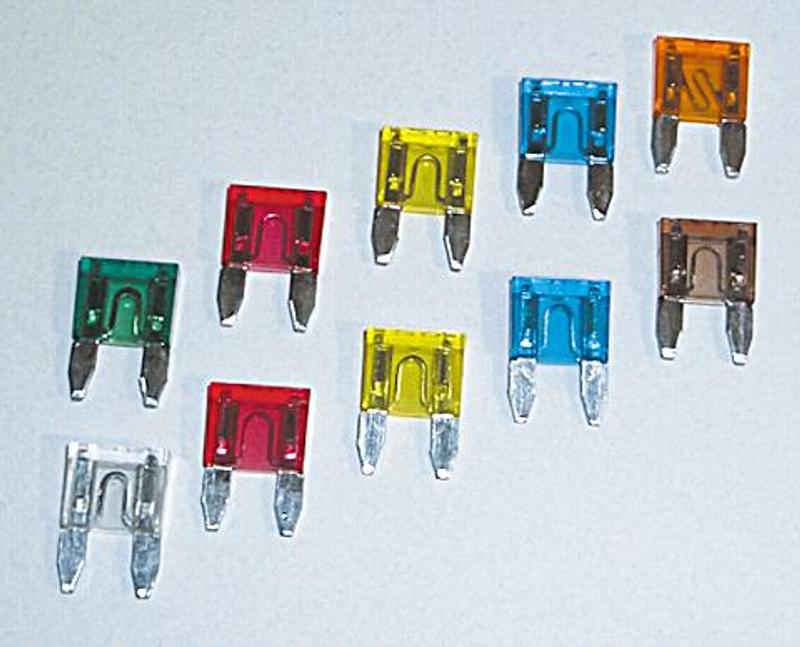 Mini-Stecksicherung , 5 A, 10er Pack