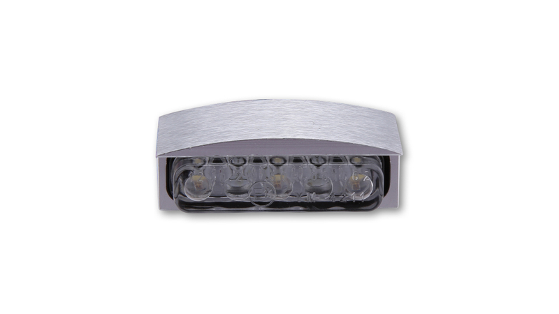 SHIN YO MINI-LED-Nummernschildbeleuchtung mit Alu-Gehäuse, silber, E-geprüft.