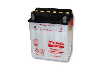 YUASA Batterie YB 14L-B2 ohne Säurepack 001