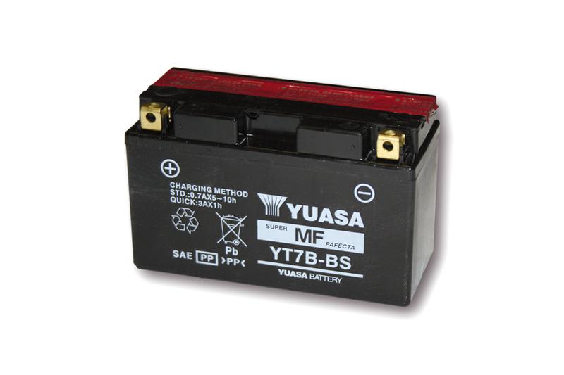 YUASA Batterie YT 7B-BS / YT 7B-4 wartungsfrei (AGM) inkl. Säurepack