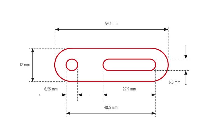 HIGHSIDER Universal-Adapter, 60mm kurz, Schraublochabstand 20-42mm – Bild 2