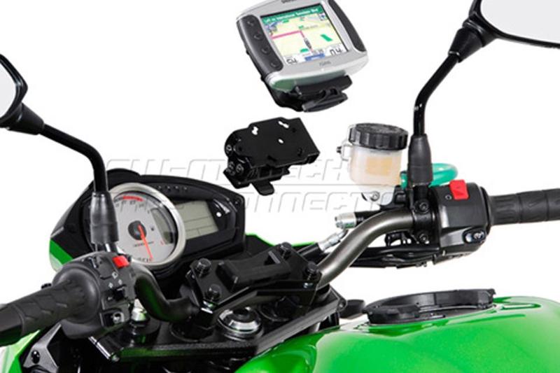 QUICK-LOCK GPS-Halter, schwarz. Vibrationsgedämpft. Yamaha FJR 1300, 04-05 – Bild 1