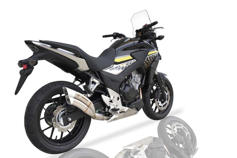 Auspuff IXRACE 2 für Honda CBR 500 R / CB 500 F, 13-15, CB 500 X, 13-16