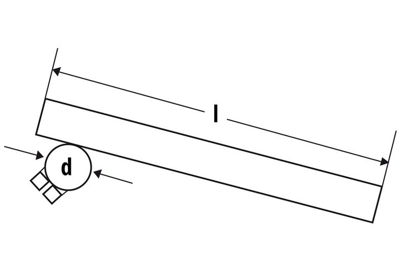 Fehling Stummellenker Montage Gebelstandrohr 30 mm, Länge 265 mm – Bild 2