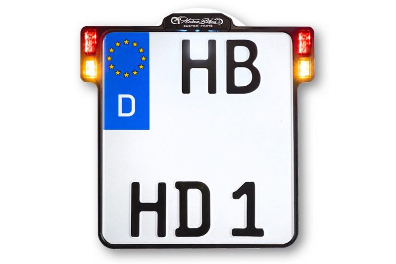 ALL-INN 2.0 Kennzeichenhalter mit KNZ-Beleuchtung 3in1 Blinker Brems- & Rücklicht, chrom