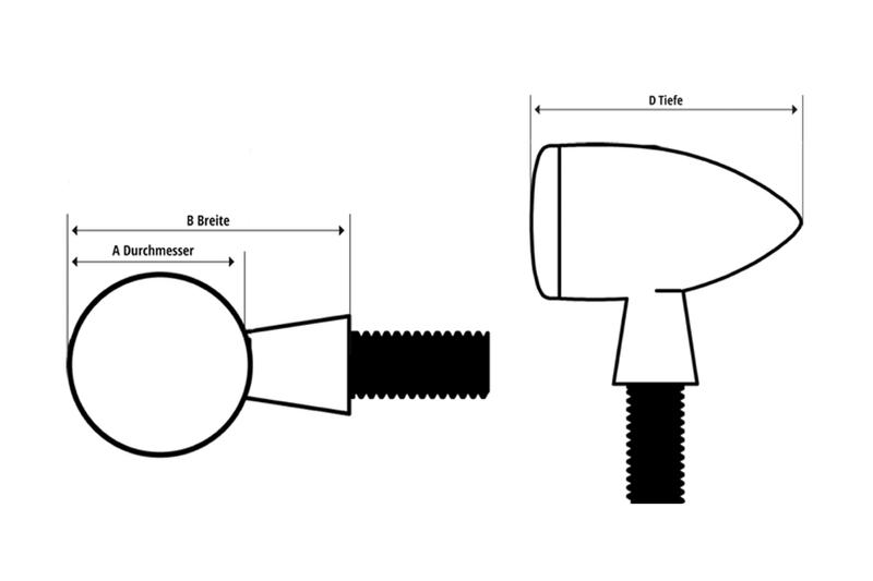 HIGHSIDER LED-Rücklicht/Blinker COLORADO, sw – Bild 2