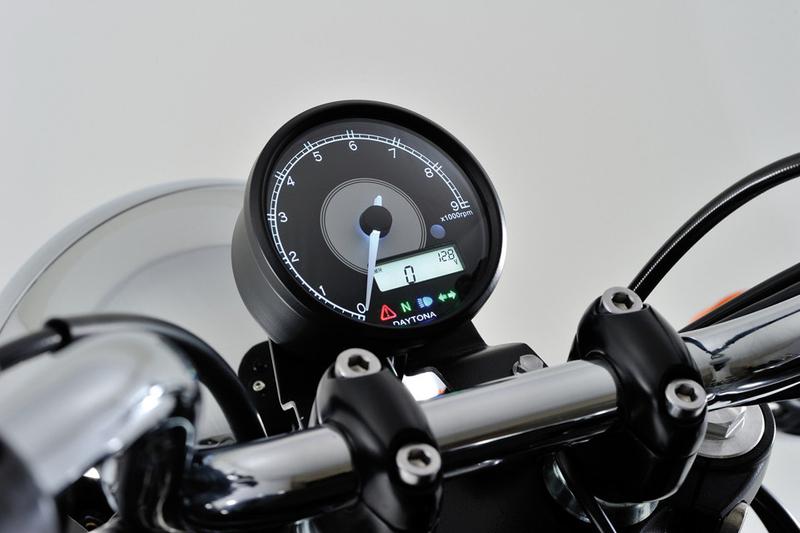 DAYTONA VELONA, Digitaler Drehzahlmesser mit Tacho, max. 9.000 U/Min, Ø 80 mm, schwarz – Bild 1